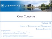 Engineering Economy 02 Cost Concepts
