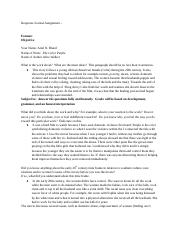 Response Journal Assignment –.docx