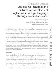 Developing Intercultural Awareness &