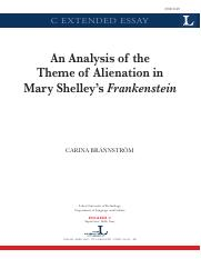 An analysis of the theme of alienation in Frankenstein.pdf