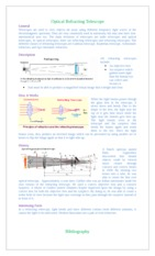 Science Fact Sheet on Optical Instruments