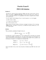 PHYS 102- Practice Exam ll version l Solutions