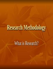 Research Methodology2