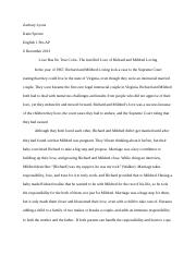 Couples Research Essay