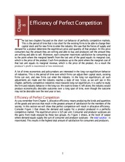 ECN1A Chapter 08  Efficiency of Perfect Competition