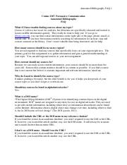 Annotated Bibliography FAQ