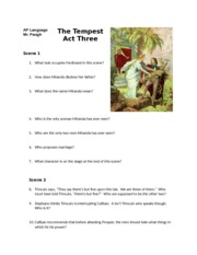 The Tempest Act Three Reading Guide (2)