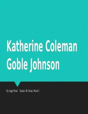 Katherine Coleman Goble Johnson