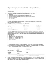 Chapter 17 Class Questions  2014
