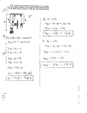 Test 1 review problem solutions