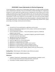 syllabus_Convex Optimization.pdf
