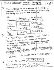 isotopic averaging notes