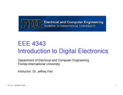 lecture 5 on Introduction to Digital Electronics