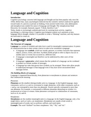 Language and Cogniti13