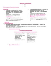 Persistent virus infection notes
