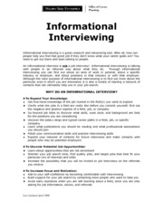 Info Interview Assignment