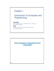 CSF3102 - 1 Introduction To Computer and Programming