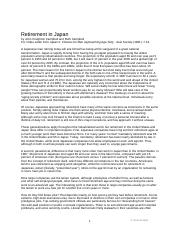 Campbell - Retirement in Japan
