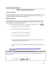 assignment axia college