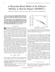 A Physically-Based Model of the Effective Mobility in Heavily-Doped n-MOSFET's
