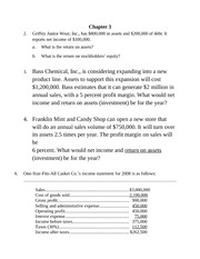 Chapter 3 Class Notes Finance
