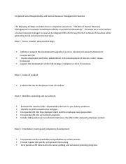 Corporate Social Responsibility and Human Resource Management Checklist.docx