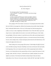 Final Draft of Gatsby Close Reading Essay