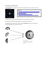 Celestial Sphere worksheet F 15