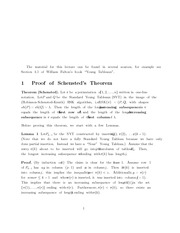 Proof of Schensted's Theorem