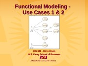 Functional Model - Use Case 1&2