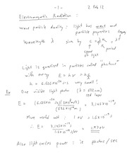 EECE 364 Electromagnetic Radiation Notes