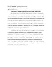 SOCIOLOGY 369J Application Exercise 2
