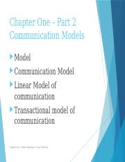 Chapter 1, Part 2, Comm. Models, New Book(1)