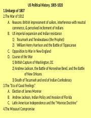 Lecture 15 - Fall 2012 - Political History, 1810-1820 (1).ppt