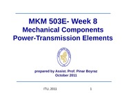 MKM 503E-Week8_Mechanical_Components_Renewed_2011