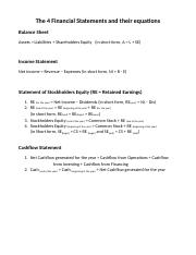 Ch 1 - The 4 Financial Statements and their equations + Worked problem.docx