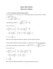 Phys 362k 2014 HW1 Solutions