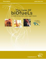 The Law of Biofuels