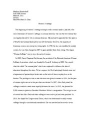 Thesis For Persuasive Essay Aas B First Essay Quotwomens Suffragequot  Madison Brinkerhoff Aas  B Section March   Dodoi Monwed Amam Womens Suffrage The Graduating From High School Essay also English Creative Writing Essays Aas B First Essay Quotwomens Suffragequot  Madison  Thesis Statement For An Essay