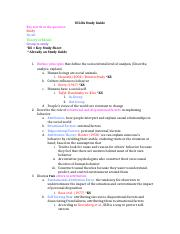 Psychology IB test review- SCLA Study Guide