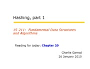 05 Hashing Part 1