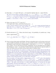 Homework 3 Solution Spring 2015 on Number Theory