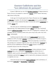 Gustave Caillebotte essay.docx