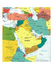 Middle East Map(Judaism and Islam)