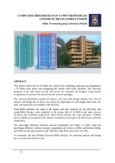 COMPUTER AIDED DESIGN OF A TWIN REINFORCED CONCRETE MULTI-STOREY TOWER