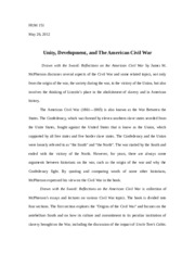 Unity, Development, and The American Civil War(drawn with the sword).docx