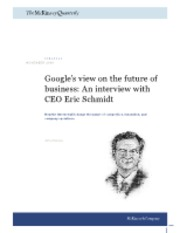 Google's view on the future of business - Eric Schmidt