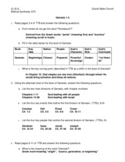 02-Genesis 1-3 Worksheet Answers
