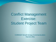 11.Conflict - Negotiation exercise