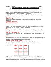 Mendelian Monohybrid Crosses.docx - Name Ansel Due ...